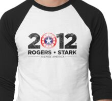 Vote Rogers & Stark 2012 (Black Vintage) Men's Baseball ¾ T-Shirt