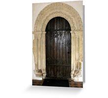 Church doorway Greeting Card