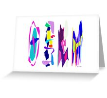 Four Times  Greeting Card