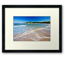 a wave Framed Print