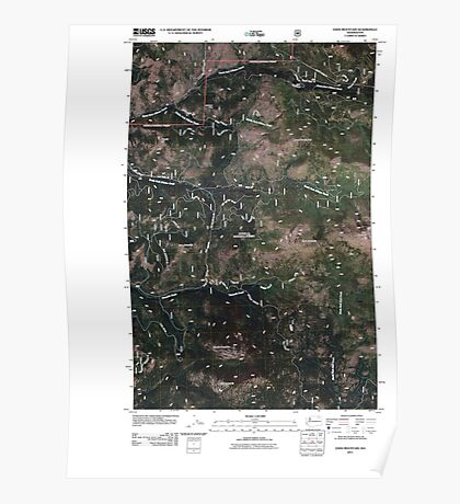 USGS Topo Map Washington State WA Edds Mountain 20110505 TM Poster