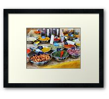 Spice Stand Framed Print