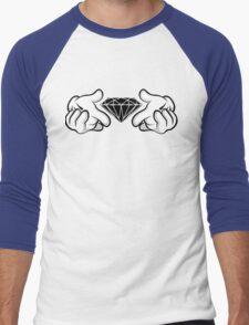 Diamond Hands Sticker Friendly Men's Baseball ¾ T-Shirt