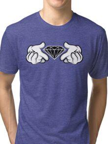 Diamond Hands Sticker Friendly Tri-blend T-Shirt