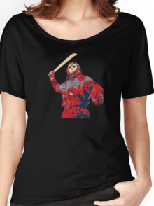 Friday the 13th Jason Vorhees Machete Chop Women's Relaxed Fit T-Shirt