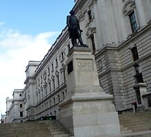 The statue, the building, the London by Fathers