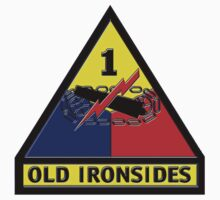 1st Armored Division Crest Kids Tee