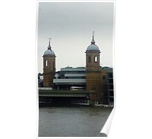 The twin tower and Thames River Poster