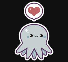 Cute Blue Octopus Kids Tee
