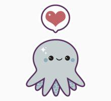 Cute Blue Octopus Kids Clothes