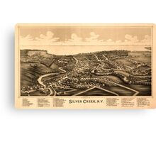 Panoramic Maps Silver Creek NY Canvas Print