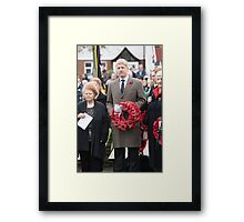 Jo Johnson MP lays a wreath on Orpington war memorial at a remembrance ceremony Framed Print