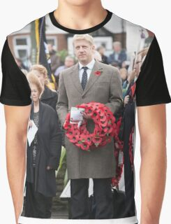 Jo Johnson MP lays a wreath on Orpington war memorial at a remembrance ceremony Graphic T-Shirt
