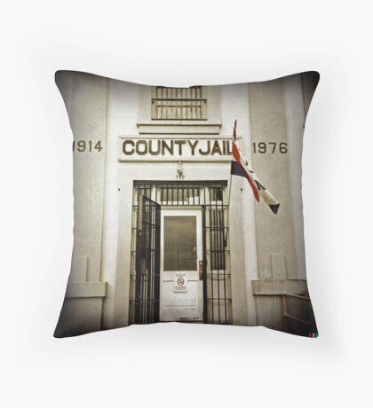 County Jail (Astoria #12) Throw Pillow
