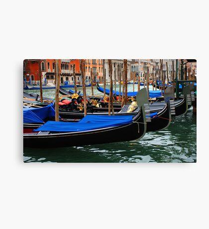 Grand Canal Gondolas Venice Italy Canvas Print