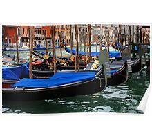 Grand Canal Gondolas Venice Italy Poster