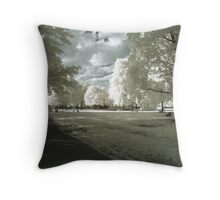 Stilton On Grass Throw Pillow