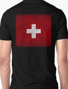 flag of Switzerland red square white cross t shirt Unisex T-Shirt