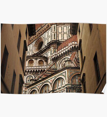 Florence The Duomo Fasade Poster