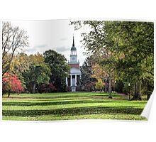 Parker Hall - Hanover College Poster