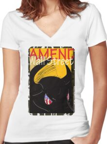 Amend Wall Street  - Taurus Women's Fitted V-Neck T-Shirt