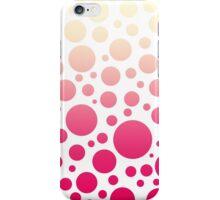 Vintage Pink Ombre Polka Dots Gradient iPhone Case/Skin