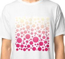 Vintage Pink Ombre Polka Dots Gradient Classic T-Shirt