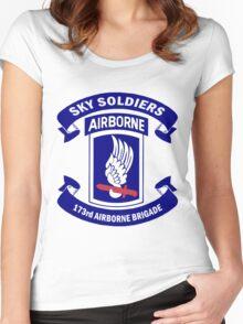 173rd Airborne Brigade Combat Team Crest Women's Fitted Scoop T-Shirt