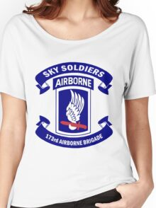 173rd Airborne Brigade Combat Team Crest Women's Relaxed Fit T-Shirt