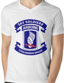 173rd Airborne Brigade Combat Team Crest Mens V-Neck T-Shirt