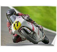 125cc racing. Bike 77. Poster