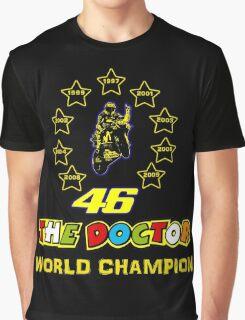 Valentino Rossi 46: World Champion in MotoGP (A) Graphic T-Shirt