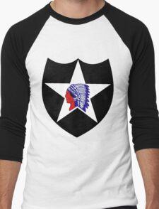 2nd Infantry Division Logo Men's Baseball ¾ T-Shirt