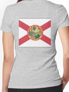 great seal of the state of florida t shirt Women's Fitted V-Neck T-Shirt