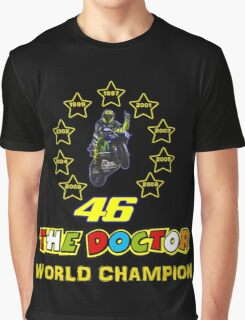 Valentino Rossi 46: World Champion in MotoGP (B) Graphic T-Shirt