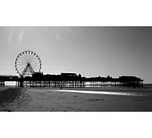 Blackpool Central Pier Low Tide Photographic Print