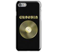 Groovin - Vinyl LP Record & Text - Metallic - Gold iPhone Case/Skin