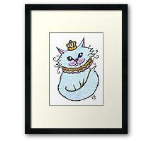 Little Blue Cheshire Framed Print