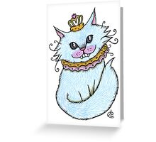 Little Blue Cheshire Greeting Card