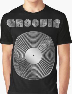Groovin - Vinyl LP Record & Text - Metallic - Steel Graphic T-Shirt