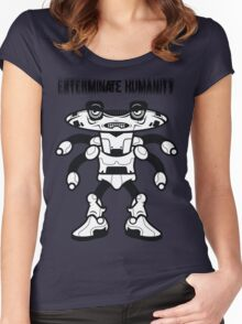 Exterminate Humanity  Women's Fitted Scoop T-Shirt