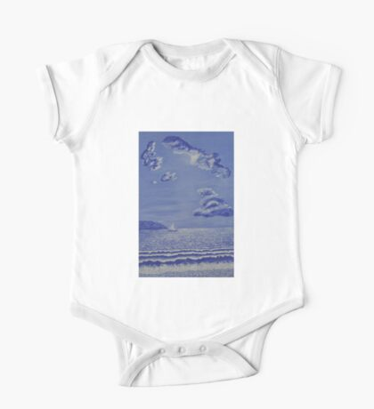 005 Sail Boat One Piece - Short Sleeve