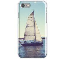 Sailboat on Lake Michigan iPhone Case/Skin