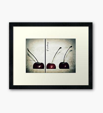 Cherries in Paisley Framed Print