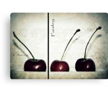 Cherries in Paisley Canvas Print
