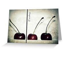 Cherries in Paisley Greeting Card