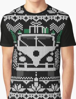 Vintage Retro Camper Van Sweater Knit Style Graphic T-Shirt