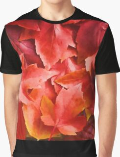Red Leaves Graphic T-Shirt