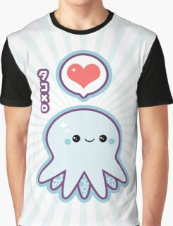 Cute Blue Octopus Graphic T-Shirt