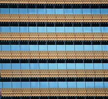 Urban Abstract: Blue and Gold by Aakheperure
